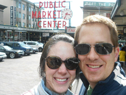 Katy and Scott in Portland Public Market